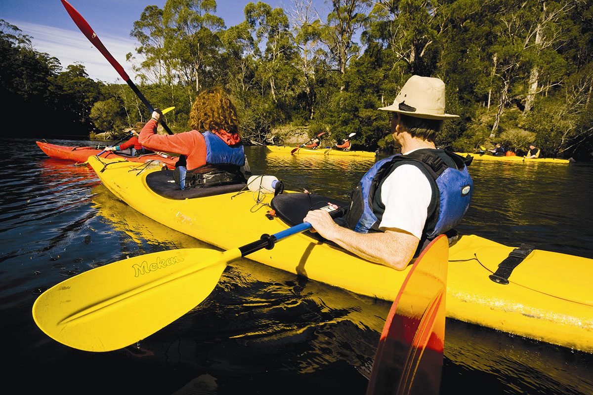 Kayak down the Ansons River in Tasmania with Great Walks of Australia.