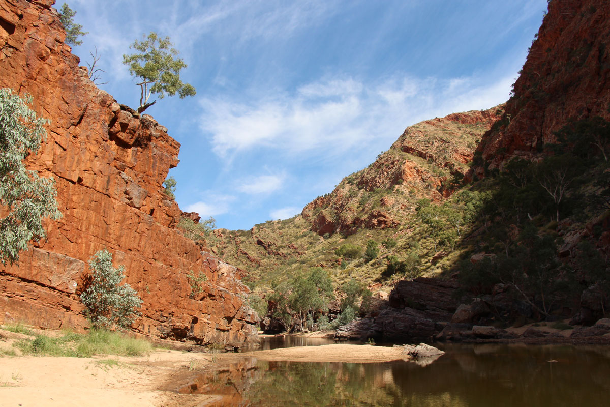 Explore the famous Ormiston Gorge in the Northern Territory with Great Walks of Australia.