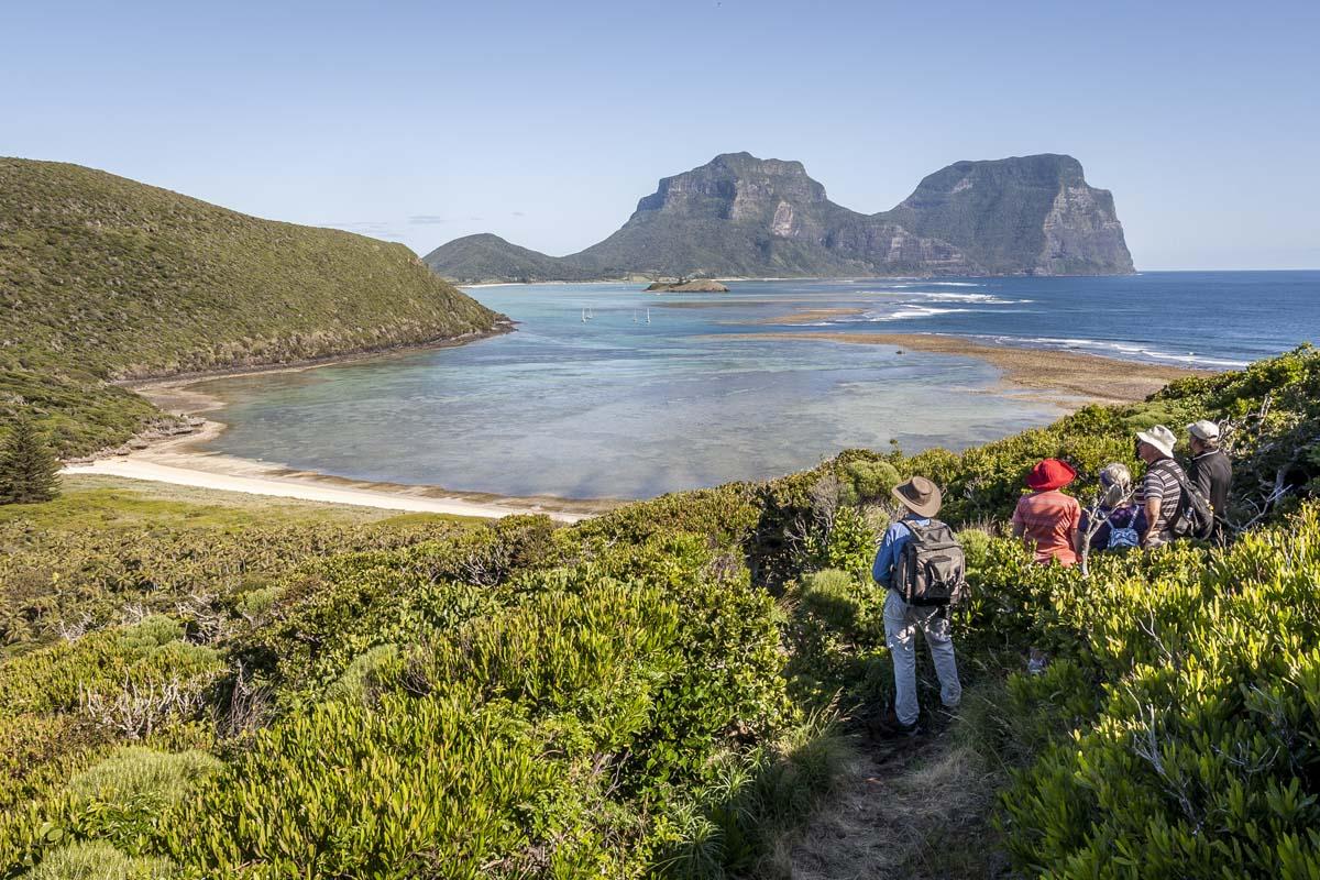 See incredible views of Australia's coastline on the Seven Peaks Walk on Lord Howe Island.