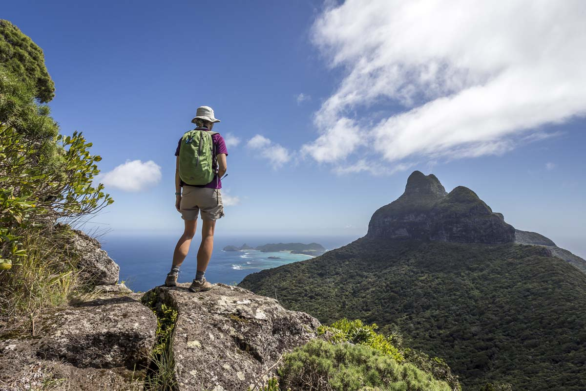Climb the Seven Peaks on Lord Howe Island for stunning views with Great Walks of Australia.