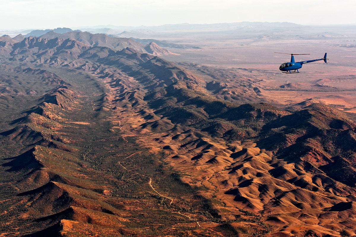 Experience the unique landscape from the air with Great Walks of Australia on the Arkaba Walk.