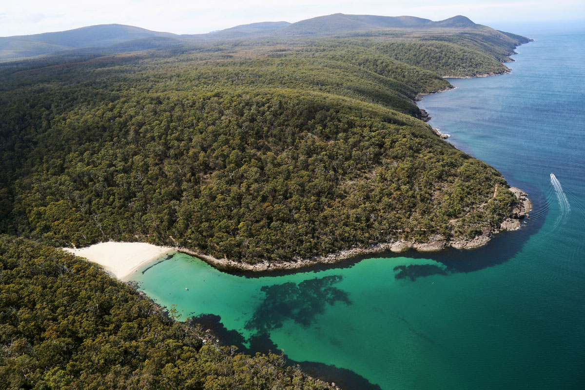 Explore beautiful Australian coastline with Great Walks of Australia on the Three Capes Lodge Walk in Tasmania.