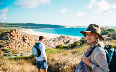 Beach walk on Margaret River Cape to Cape
