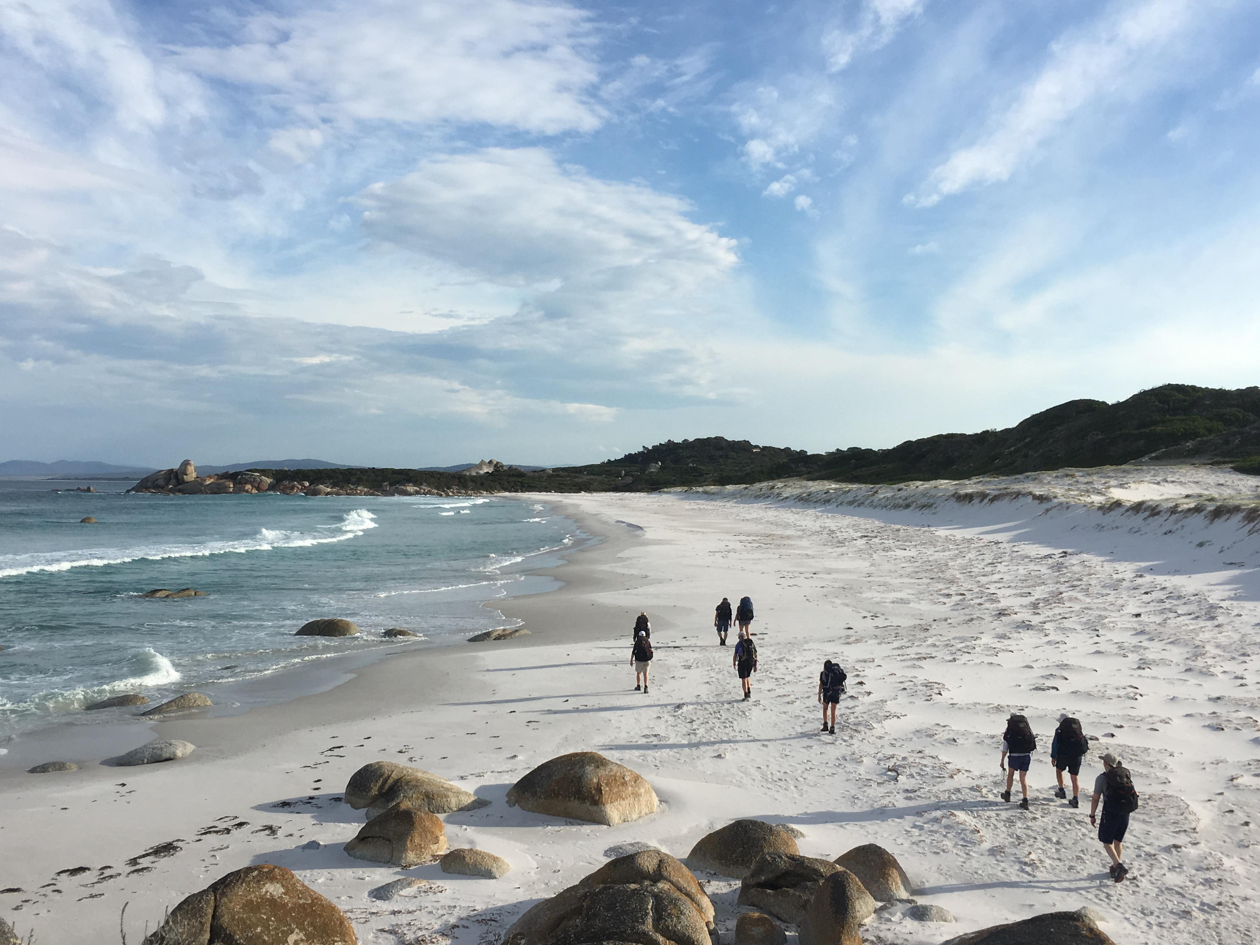 Walking among the sand dunes