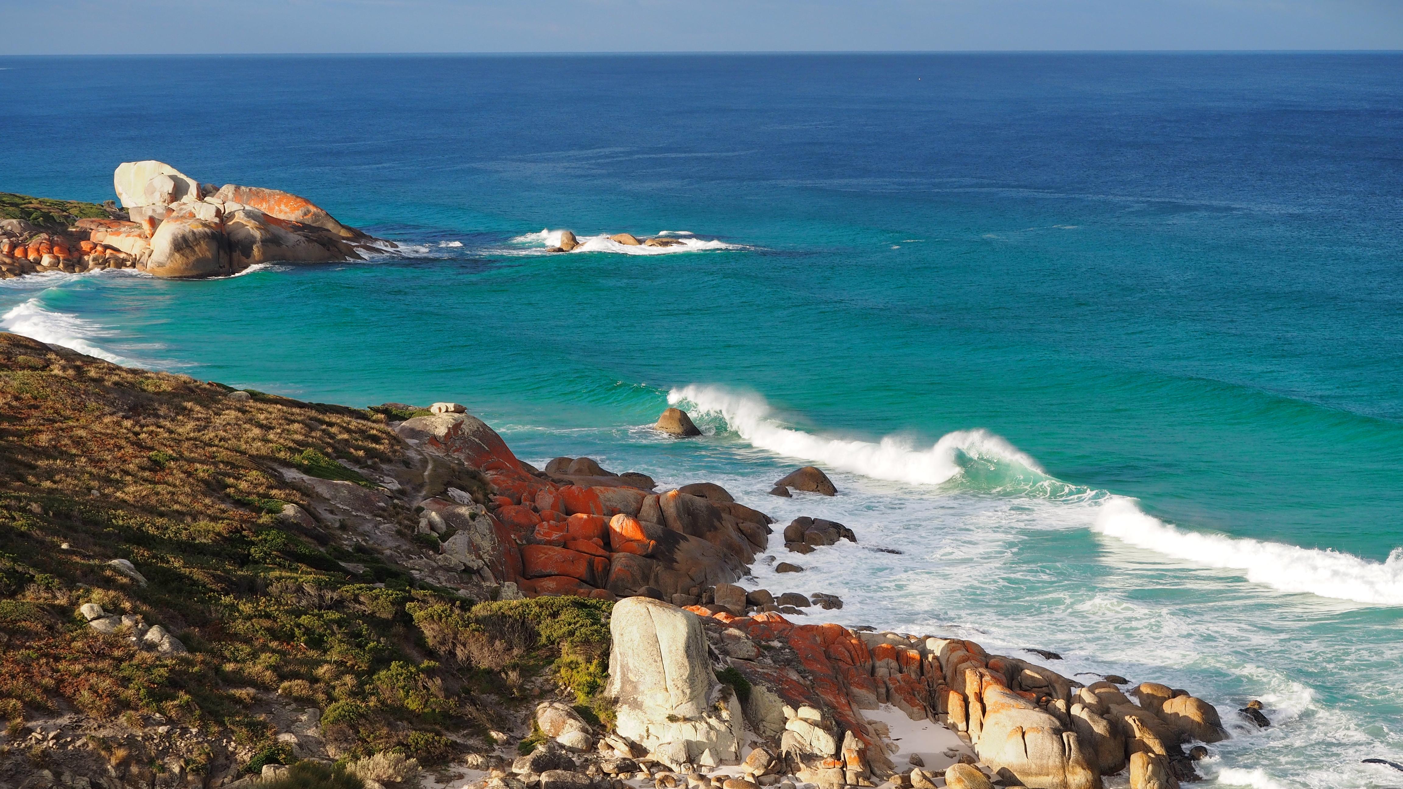 Stunning ocean views in Tasmania